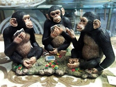 Poker-playing monkeys
